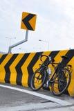 Стрелка велосипеда и знака Стоковое Изображение RF