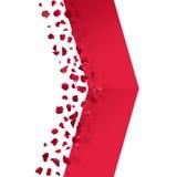 Стрелка лепестков красной розы Стоковое Фото