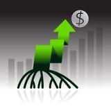 Стрелка диаграммы диаграммы вектора для стратегии бизнеса Стоковое Фото