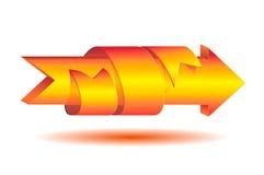 Стрелка и лента Стоковые Изображения RF