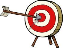 Стрелка и цель Стоковое фото RF