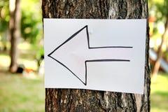 Стрелка на дереве Стоковое фото RF