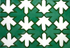 Стрелка на мозаике текстуры орнаментальной деревянной Стоковое Изображение