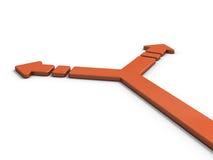 Стрелка представляя ветвь Стоковые Изображения