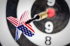 Стрелка дротика с флагом США Стоковые Изображения