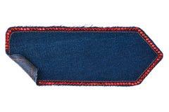 Стрелка сделанная из джинсовой ткани с стразами Стоковое Изображение RF