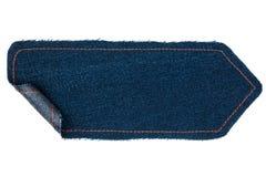 Стрелка сделанная от джинсовой ткани с обернутыми краями Стоковые Фотографии RF