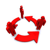 Стрелка цикла красного бизнесмена Стоковое Изображение