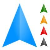 Стрелка Gps - значок указателя в изменении 5 цветов оно к новым eas цветов иллюстрация штока
