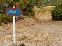 Стрелка spiaggia Freccia стоковые изображения rf