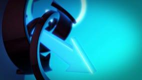 Стрелки абстрактной предпосылки 3D вращая Стоковые Фото