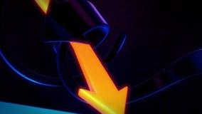 Стрелки абстрактной предпосылки 3D вращая Стоковые Фотографии RF