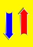 Стрелки вектора голубые и красные иллюстрация вектора