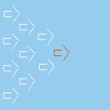 Стрелки водя красной стрелки белые иллюстрация штока