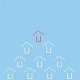 Стрелки водя красной стрелки белые иллюстрация вектора