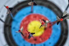 Стрелки в цели Стоковое Изображение