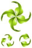 Стрелки зеленого цвета Eco Стоковое Изображение
