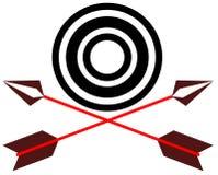 Стрелки и цель Стоковое Изображение
