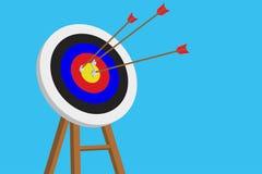 Стрелки и цель Стоковое Фото