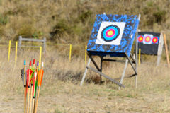 Стрелки и archery цели Стоковое Фото