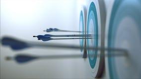 3 стрелки которая ударили цель Стоковые Фото