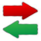 Стрелки красные и зеленые Иллюстрация вектора