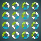 Стрелки круга установленные для вашего графика информации Стоковое Фото