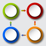 Стрелки круга установленные для вашего графика информации иллюстрация вектора