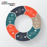 Стрелки круга для вашего графика информации Стоковые Изображения RF
