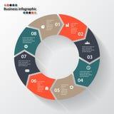 Стрелки круга для вашего графика информации Стоковое Фото