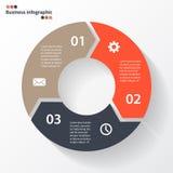 Стрелки круга для вашего графика информации Стоковое фото RF