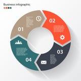 Стрелки круга для вашего графика информации Стоковое Изображение RF