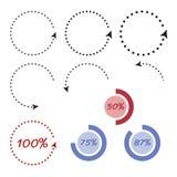 Стрелки круга Infographic Стоковая Фотография RF