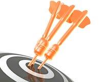 Стрелки на цели Стоковая Фотография