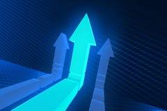 Стрелки дороги на перекрестках в трудной отборной концепции - rende 3d Стоковое Изображение