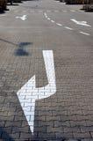 Стрелки дорожной разметки Стоковые Фото
