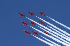 стрелки показывают красную команду Стоковое Изображение RF
