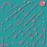 стрелки Рук-притяжки розовые Стоковые Фото