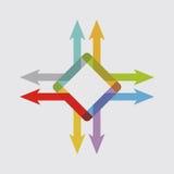 Стрелки цвета, абстрактная иллюстрация Стоковое фото RF