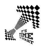 Стрелки часов в форме checkered флага Стоковые Фото
