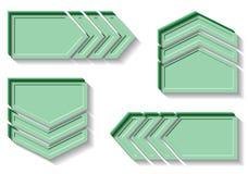 Стрелки четверки зеленые Стоковая Фотография