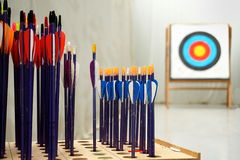 Стрелки Archery с целями Стоковое Фото