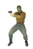 Стрелок с личным огнестрельным оружием Стоковое Изображение RF