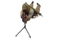 Стрелок с пулеметом Стоковое Изображение RF