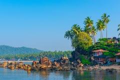 Стрельба в пляже утра тропическом стоковая фотография rf