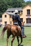 Стрельба установленная ковбоем Стоковая Фотография