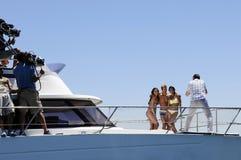 Стрельба фото купальника на яхте Стоковое фото RF