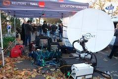 Стрельбы Bataclan телевизионной аппаратуры Стоковое Изображение RF