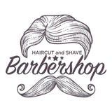 Стрижка и бритье, обслуживание парикмахерскаи для вводить в моду людей иллюстрация штока