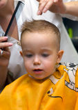 стрижка мальчика немногая Стоковое Изображение RF
